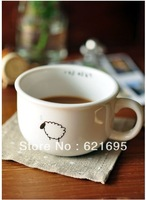 Frees hipping 2pcs/lot Zakka Grocery Raindrops, Sheep, Birds, Beard Ceramic Cup/ Readily Mug/ Coffee cup