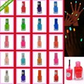 New Arrival 24X Wholesale 7ml Fluorescent Neon Nail Polish Glow in Dark Color Nail Varnish Free Shipping