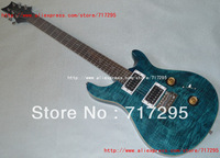 2013 New arrival Wholesale&retail guitar Chinese guitar factory PRS Custom 24 electric guitar Blue