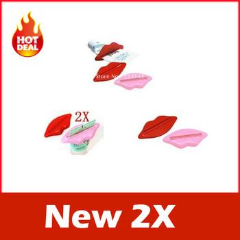 New 2X Bathroom Lip Kiss Dispenser Toothpaste Squeezer