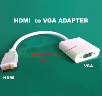 Wholesale 10PCS/LOT HDMI Male to VGA RGB Female Cable HDMI to VGA Video Converter Adapter with converting chip 1080p for PC PS3