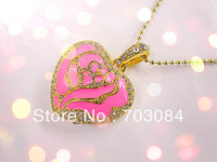 usb Flash Drive heart style with jewellry necklace    FUSB-2013-04