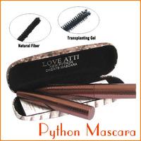 1SET LOVE ATTI Curling Lengthening Mascara Gel and Natural Fiber Black Mascaras Eyelash Set with Python Pattern Case