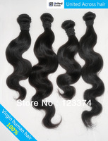 "Mixed lengths 12""-32"" Brazilian 100% virgin hair Body wave 4pcs/lot unprocessed human extensions natural color DHL free shipping"