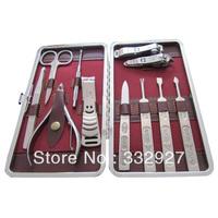 Nail art set pedicure tool finger plier eyebrow scissors nail clipper finger file digging ershao