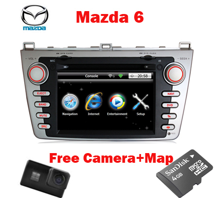 Top Quality 3G Auto DVD for Mazda 6 with 3G GPS BT Radio TV USB SD IPOD Canbus free OEM rear view camera +Free Shipping(China (Mainland))