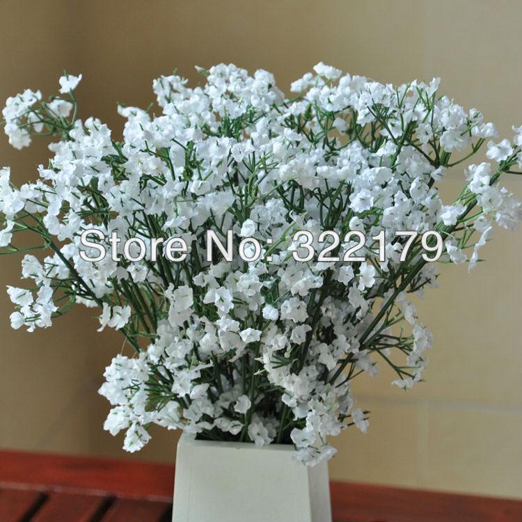Silk Babys Breath Flower Bouquet Wedding Table Centerpieces Artificial