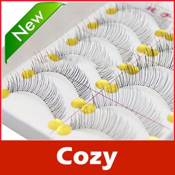 10 Pairs Handmade Fake False Eyelash Natural Look Transparent Stem 217