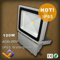100W LED Flood Light outdoor lighting /100w warm white led 9000lm flood projector 85V-265V   Waterproof  IP65 lamp Single color