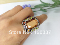 faux stones royal finger ring vintage fashion jewelry costume finger ring stretchy Min. order $ 15 for assorted styles
