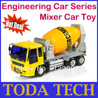 Engineering Car Series D02-5 Inertia Mixer  Toy Car for Child Best Gift Promotion Price Free Shipping