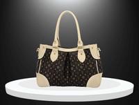 Free shipping  fashion women's handbag messenger bag color block rivet dumpling big bag shaping bag