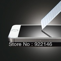 Tempered Glass Screen Protector for iphone 5 With Free Button Free Shipping