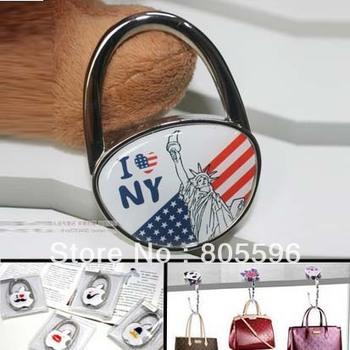16 styles Bag Hanger Hook Foldable Purse Hook Handbag Holder Lady's gift