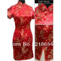 Print cheongsam dress fashion design vintage short cheongsam photography clothes cheongsam plus size