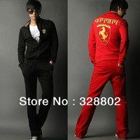 2013 Men's fleece brushed suit car logo embroidered clothes suit Clothes & Pants 2 Colors  4 Size M-XXL