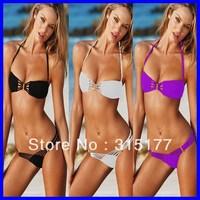 Free shipping Yummy Bikini Set Black Women Sexy Swimwear Wholesale 10pcs/lot 2013 Swimsuit For Women 40467