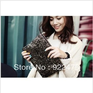 free shipping,2013 new arrival fashion lady pu leather handbag,woman sequined clutch bag,cb2