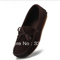 Promotions! Women's  Genuine  Shoes Slip-on  Flats Comfort Anti-skid Shoes  7 Colors Free Shipping
