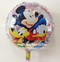 50pcs/lots 18 inch round shape Mickey and Donald duck foil  balloon , Cartoon balloon ,party decorate,45X45cm