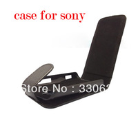 For Sony Ericsson WT19i Live With Walkman Synthetic Leather Case Cover Pouch,Black free shipping 1pcs/lot