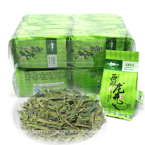 Longjing tea premium green tea hangzhou west lake leaf new tea 192g blue tea(China (Mainland))