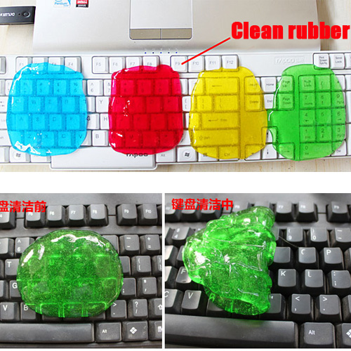 Free Shipping Magic HighTech Super Clean Cyber Keyboard Dust Cleaning Compound Slimy Gel A1101(China (Mainland))