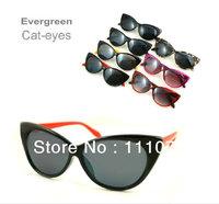 Free Shipping 2013 Cat Eye Vintage plastic sunglasses women Inspired Sexy Mod Chic Rtro brand sunglassesCat Eye glasses SG028