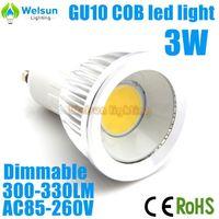6X New Hot Sale dimmable  E27/GU10/MR16 3W COB LED Bulbs Super Bright LED Spotlight Lamp