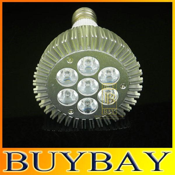 Dimmable 21W/ 7x3W E27 Par30 LED Bulb lamp 85-265V Warm White/white LED spot light, Par 30 E27 led lig