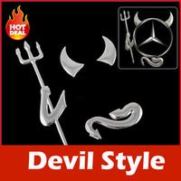 New 3D Devil Style Demon Sticker Car Emblem Logo Paper