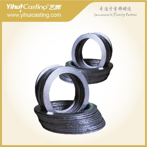 2 / pieces diâmetro 5 polegada anel de grafite junta de vedação para fazer jóias fundição(China (Mainland))