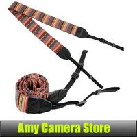 50PCS Universal Color Stripes Soft red Camera Neck Straps Shoulder Strap Belt Grip For DSLR Nikon Canon Panasonic Sony Pentax