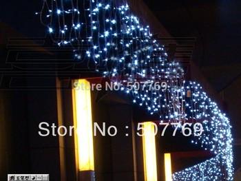 String Lights 10m*0.65m 320led Light Flashing Lane Led String Lamps Curtain Icicle Christmas Home Festival 100v-220v Eu Uk Us Au