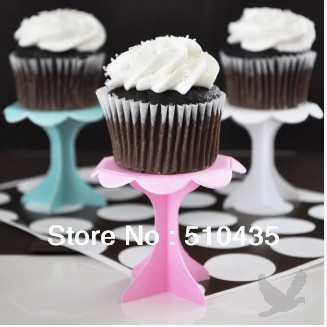 Free shipping ! 2'' single cupcake stand (blue/pink/white)(China (Mainland))