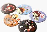 F04706-20 20pcs/lot Girl Lady Cute Cartoon Portable Small Mini Mirror Cosmetic Makeup Mirrors Circular design + Free Shipping