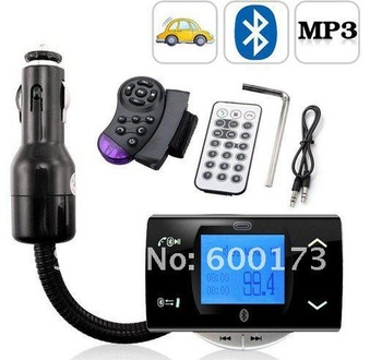 Bluetooth Car Kit MP3 Player FM Transmitter Modulator Remote Control Talking in handsfree