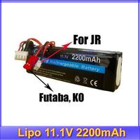 Regester free shipping!! RC Transmitter Lipo Battery 11.1V 2200mAh For JR Futaba BEC