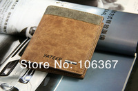 fashion leather travel wallet for men