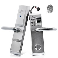3-in-1 Biometric Fingerprint and Password Door Lock with Deadbolt (Right Handed)