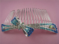 free shipping Han edition alloy bowknot combs hair combs bright female hair comb/wholesale/retail