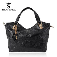 Knurling Flower Genuine Leather 4 Colors Fashion Bag Totes Handbags Designer Shoulder Bags For Women  GLB-092