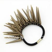 Min order.$10 Fashion western punk rivet elastic hair band Free shipping