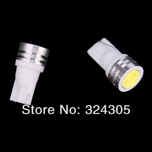 10X High Power T10 W5W 184 2450 2521 LED Door Light clearance Bulb 1W car led lamp corner parking light white blue red yellow(China (Mainland))
