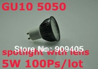 Wholesale Freeship 24leds 5050 SMD LED Spotlights GU10 5W Dimmable 380LM Hot Sale 100PCS/lot High Brightness