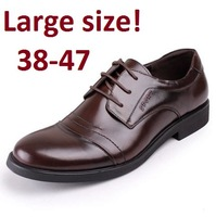 Free Shipping Men Suede Shoes Big Size Shoe European style Large Men's shoes Genuine Leather Business Oxfords Shoes High Quality
