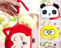 10PCS 2013NEW Kawaii Hello Kitty Etc. Cartoon Plush Wrist BAG ; Phone Pouch CASE Bag; Coin Bag Purse & Wallet Case Pouch
