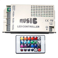LED Music Controller 24 keys 12-24V DC adapter output 3 RGB common anode for led strip light with IR controller