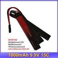 HK register free shipping~100% Orginal Flame 9.9V 1000mAh 15C LiFePO4 Battery FLAME-POF4-05