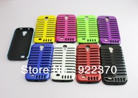 Newest Musubo Retro PC+Silicon microphone Heavy Duty Cover Case For Samsung GALAXY S4 i9500   Free shipping MOQ:1pcs